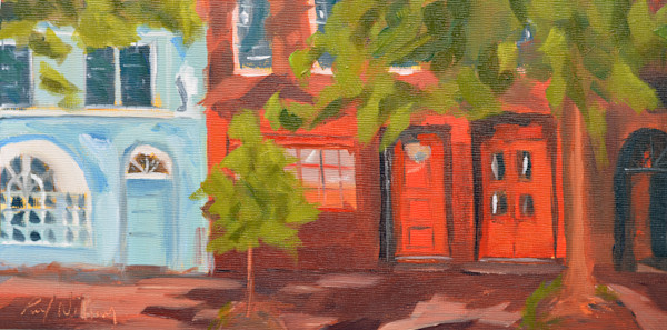 Chestnut Street painting by Paul William | Art for Sale
