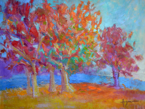Red Oaks Abstract Trees Dorothy Fagan Collection