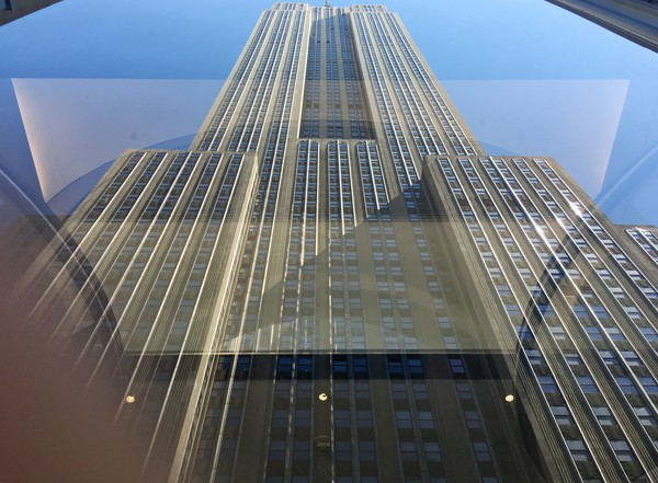 Interesting Empire State Building Reflection for Sale. Richard London