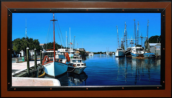 Tarpon Springs Sponge Docks painting | Kevin Grass Fine Art