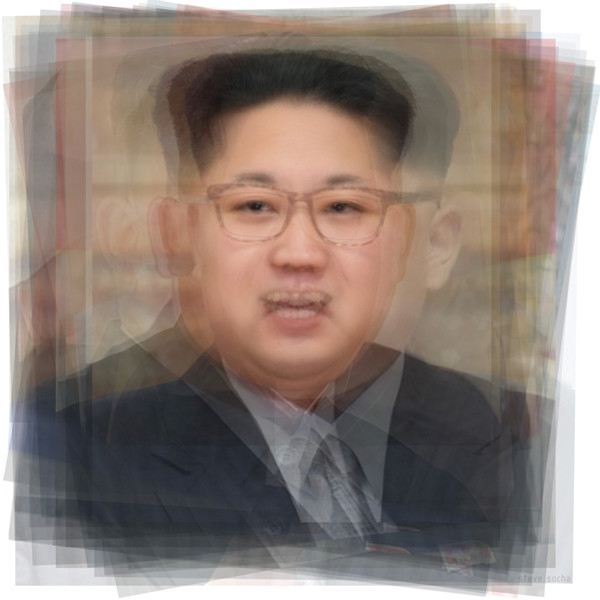 Overlay art – contemporary art prints for sale of leader of North Korea, Kim Jong-Un