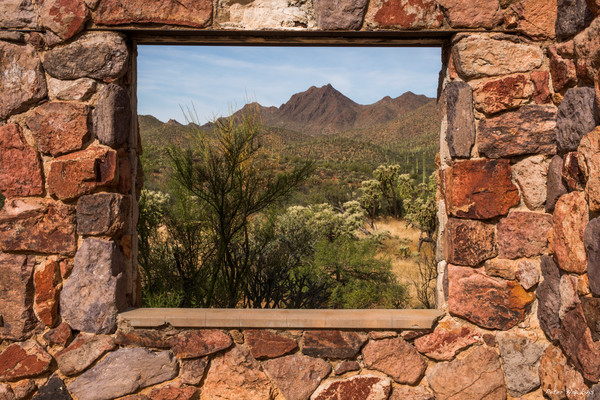 window, stone house, tucson mountian park, tucson, arizona