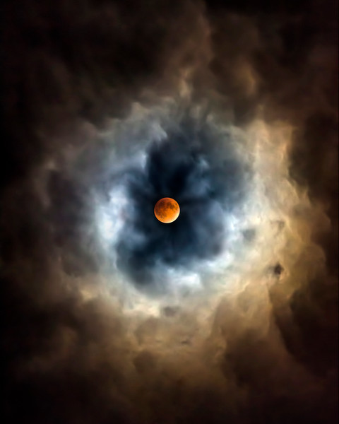 Clouds and Blood Moon