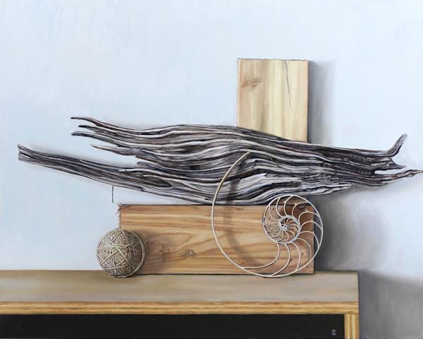 Wood, Nautilus, Rubber Band Ball