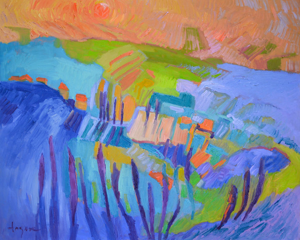 Heart Land Abstract Landscape Art Dorothy Fagan