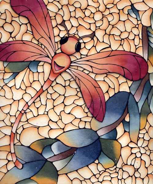 Burgundy Dragonfly Print for Sale | Kathy Lycka Studio