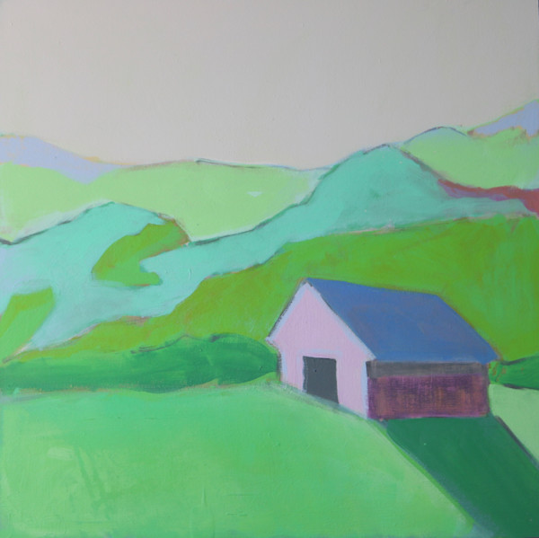 lesli devito original art paintings | pink barn | blue-ridge-mountains|