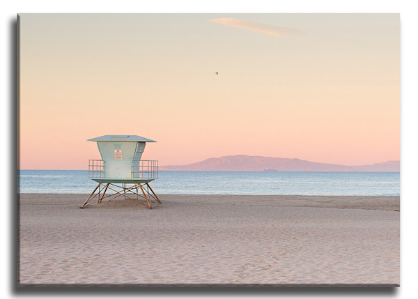 Lifeguard Sunrise Wrap Canvas