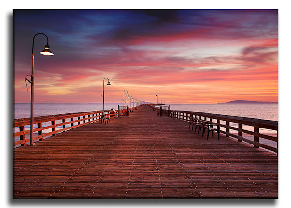 Pink Pier Wrap Canvas Print