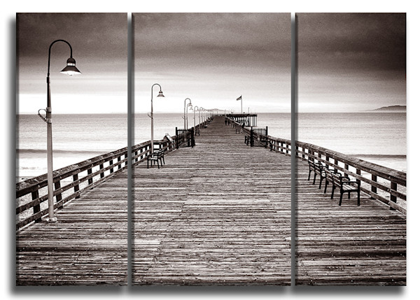 Wooden Pier Canvas Triptych