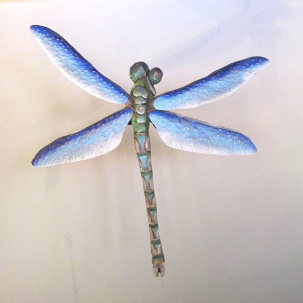dragonfly sculpture insect art carving