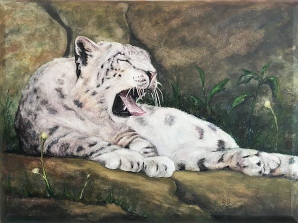 Snow Leopard full horizontal