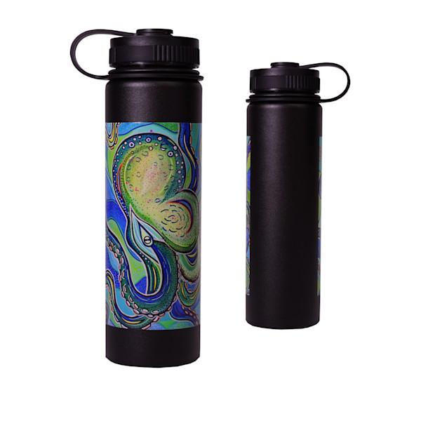 Blue Octopus Flask