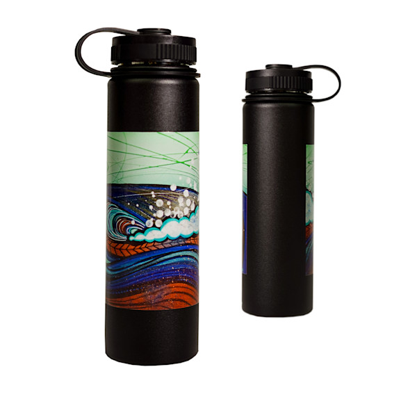 Printed Lifestyle Flasks | Bronze Wave