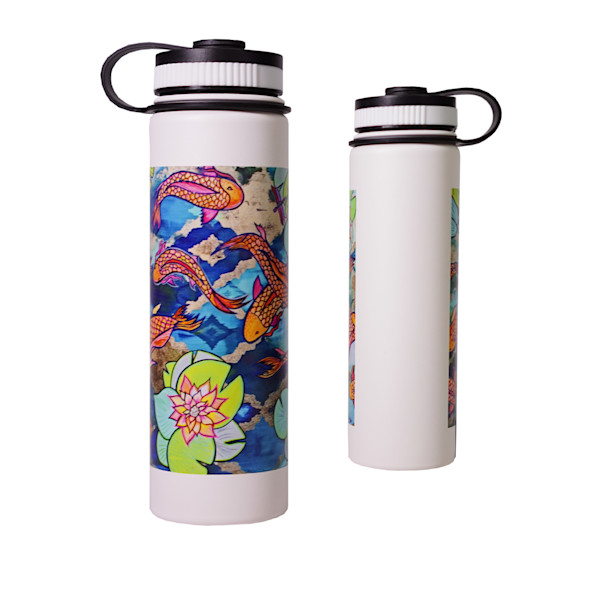 Printed Lifestyle Flasks | Koi Pond