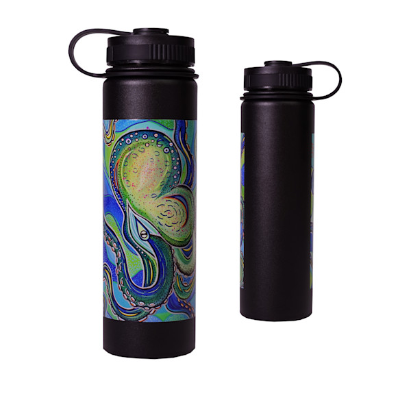 Printed Lifestyle Flasks | Blue Octopus