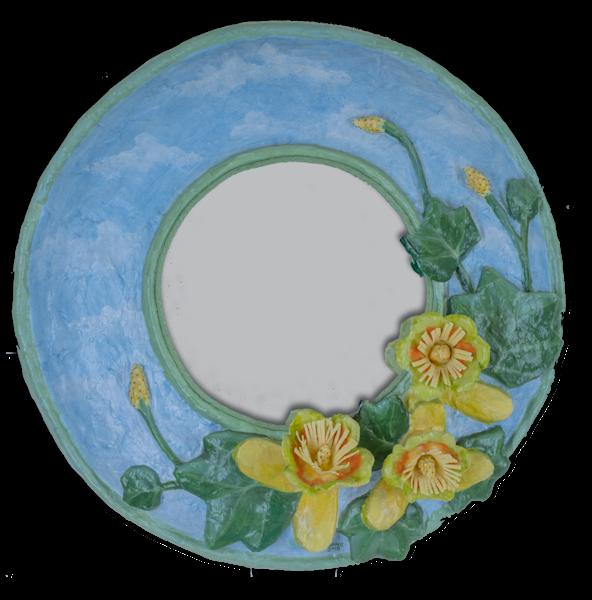 Buy Tulip Poplar paper mache mirror as fine art.