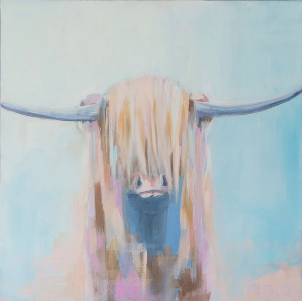 Lesli DeVito original Art Paintings | Animals | HAL |highland-cow