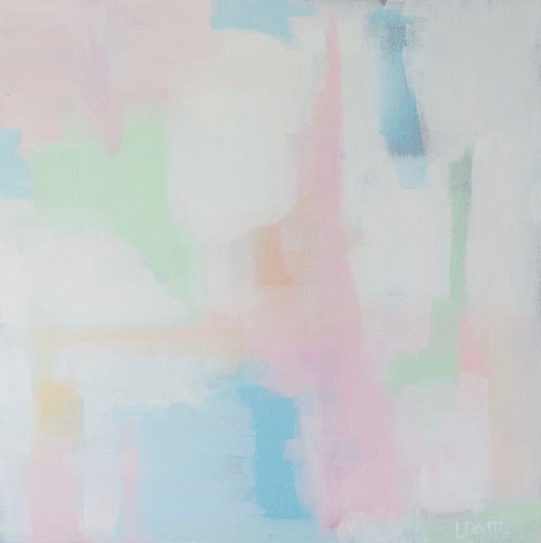 New lesli deVito colorful original abstract art paintings .