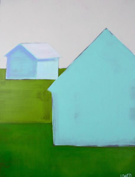 lesli devito original paintings art barns aqua