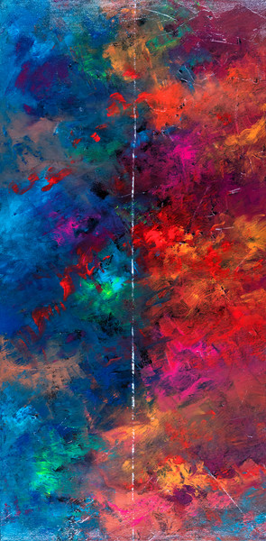 Gayle Faulkner, abstract, mixed media, seasons, celestial, color, artist, contemporary