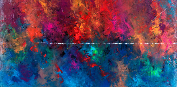gayle Faulkner abstracts, artist, contemporary, colorful, latex, acrylic, mixed media
