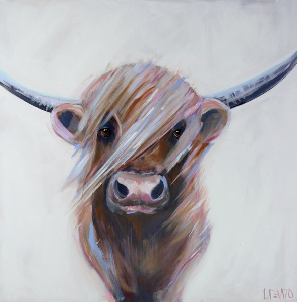 Lesli DeVito original Art Paintings | Animals | noah | highland-cow