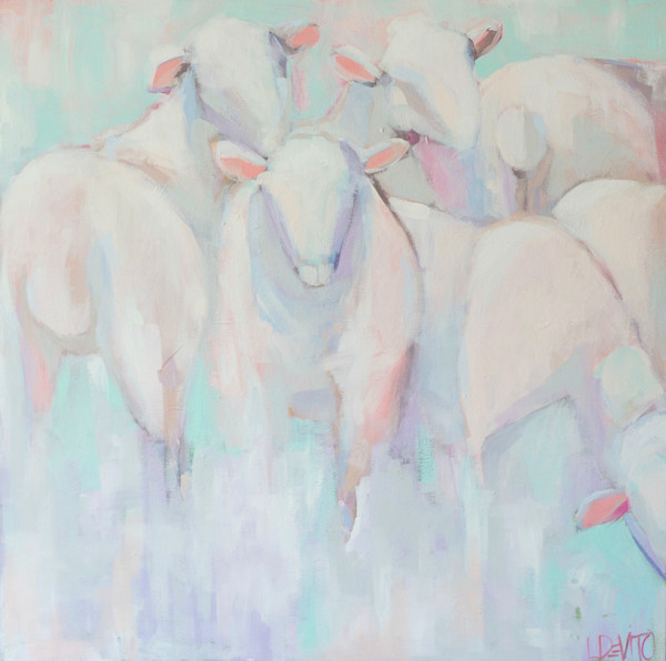 Lesli DeVito original Art Paintings | Animals |beautiful girls| sheep