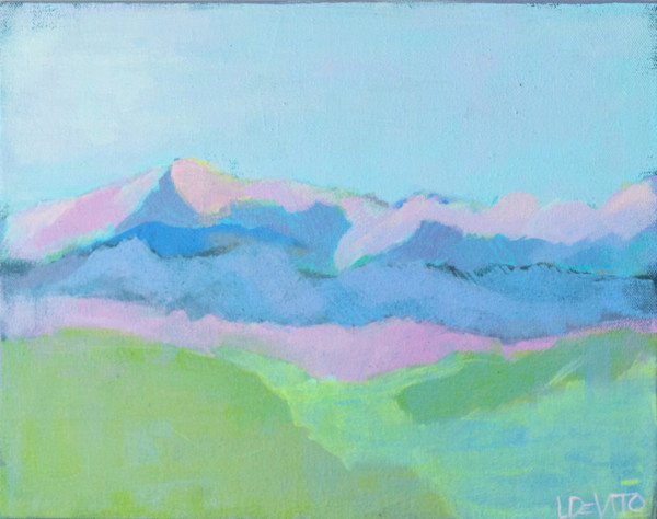 lesli devito original art painting print landscape mountains virginia