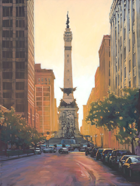 Radiant Indianapolis Cityscape art and paintings by Jed Dorsey.