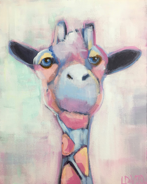 Lesli DeVito original Art Paintings | Animals | Bobo | giraffe