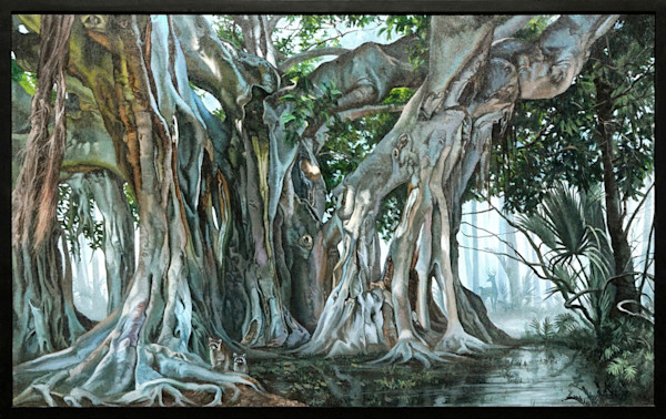 Banyan tropical tree painting | Kevin Grass Fine Art