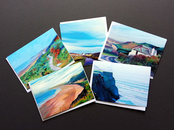 Rhossilli Bay Greeting Cards by Denise Di battista