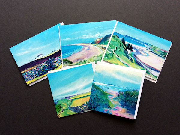 Gower coastal Walks Greetings Cards