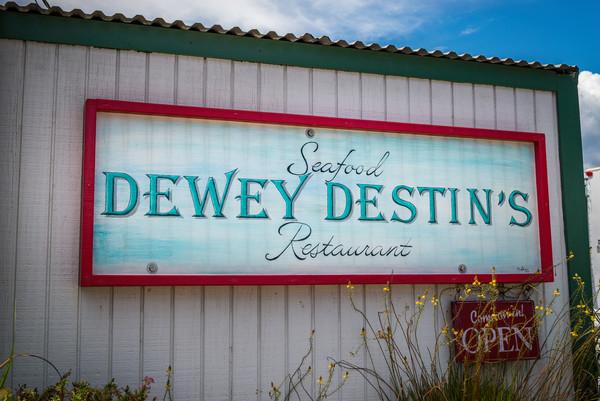 Dewey's Destin sign, fine art print for sale | Susan J Photography