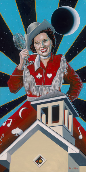 Original painting of singer Patsy Cline available as art prints.