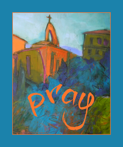 """""""Pray"""" INSPIRATIONAL WALL DECAL, CreativSOUP art quote by Dorothy Fagan"""