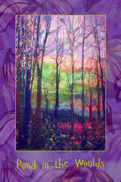 """""""Pond in the Woulds"""" INSPIRATIONAL WALL DECAL CreativSOUP Quotes by Dorothy Fagan"""