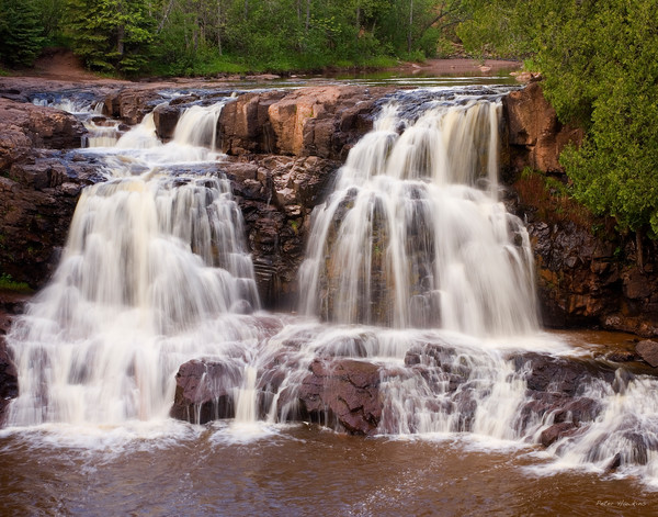 gooseberry falls state park, upper falls, gooseberry river, two harbors, minnesota
