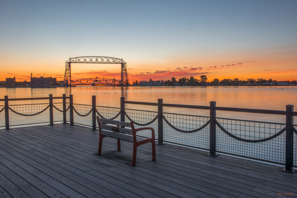duluth harbor, sunrise, duluth, minnesota
