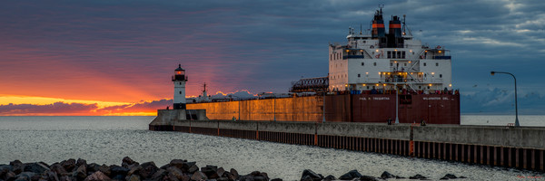 paul r. tregurtha, sunrise, duluth, minnesota, lake superior