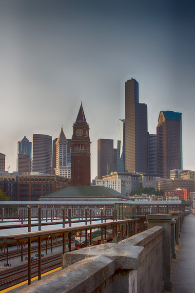 A Fine Art Photograph of Seattle Near CenturyLink Stadium by Michael Pucciarelli