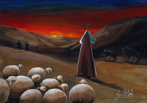 The Good Shepherd - Gives His Life For The Sheep by Signe Flink