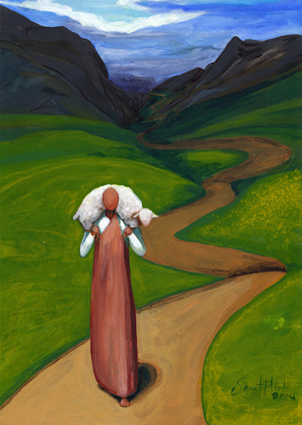 """""""The Good Shepherd - Brings Back That Which Was Lost"""" by Signe Flink 