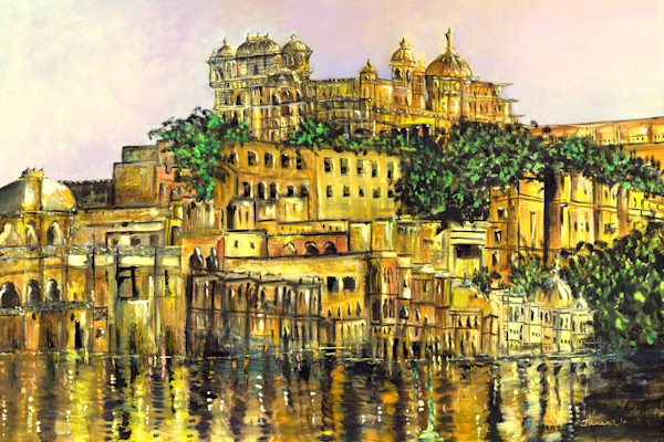 Oil and acrylic paintings for sale, travel inspired, ethnic themes, Janak Narayan Fine Art