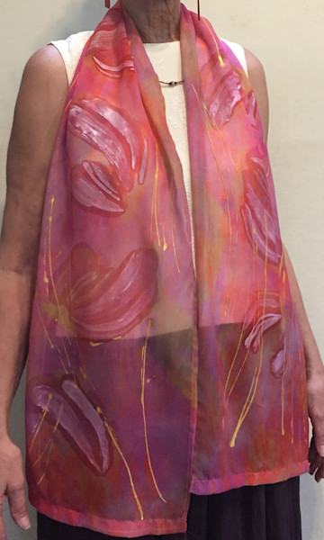 Wet Wings Butterfly Scarf ~ Breast Cancer Awareness Month Dorothy Fagan Collection