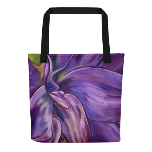 Dear Dahlia original artwork by Mary Anne Hjelmfelt printed on tote bags