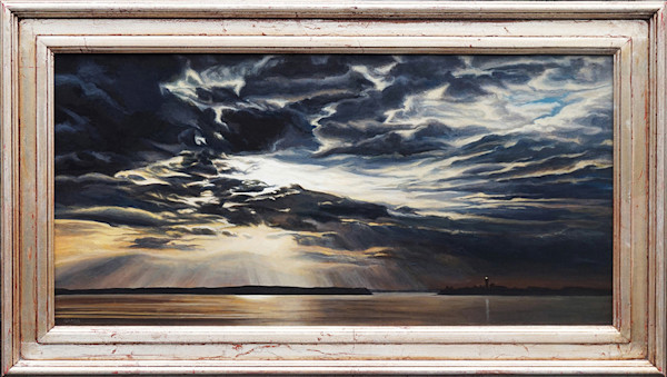 Dusk beach sunset painting | Kevin Grass Fine Art
