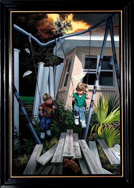 Children of divorce painting | Kevin Grass Fine Art