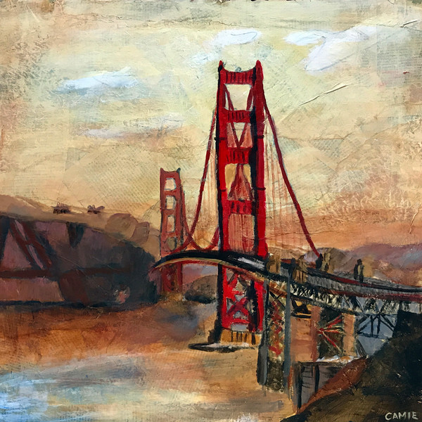 Original paintings, prints, buildings, structures, bridge